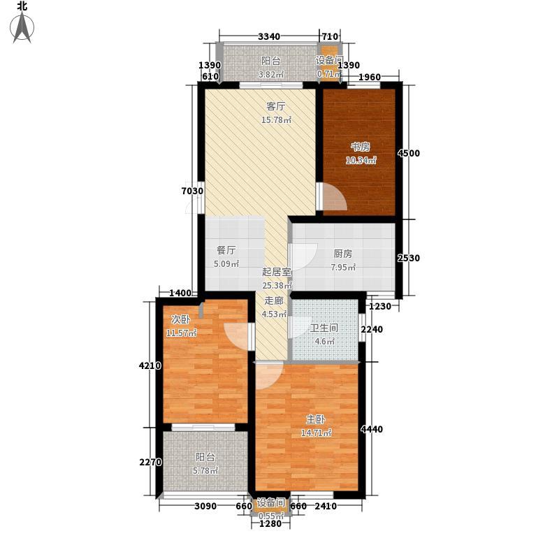 上善居98.00㎡一期534号楼标准面积9800m户型