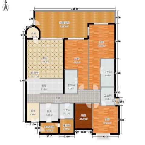 城市经典三期夏宫4室0厅4卫1厨260.00㎡户型图