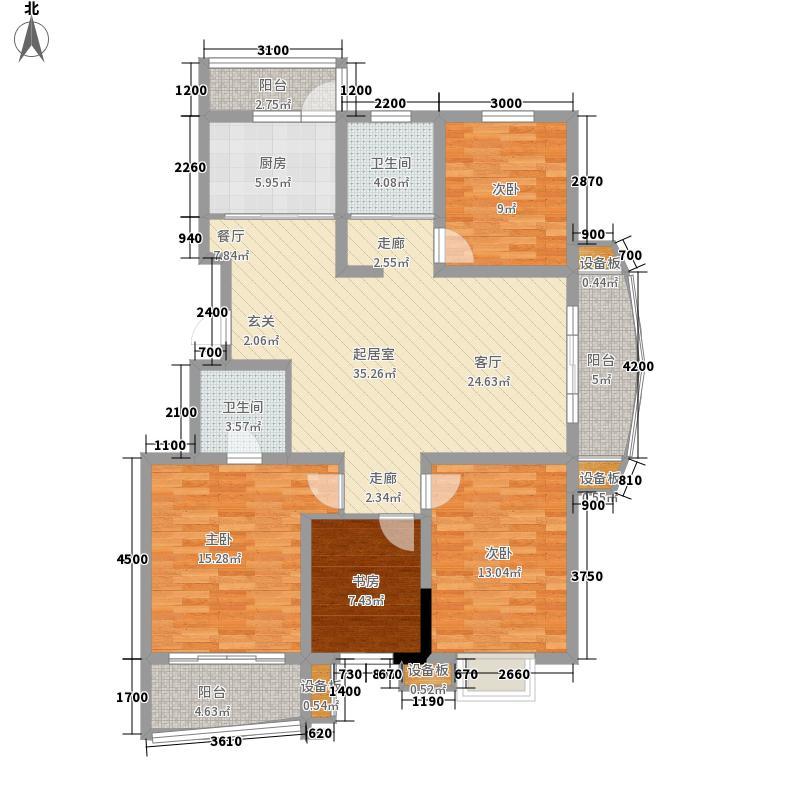 墨香山庄135.00㎡三期C5栋标准层面积13500m户型