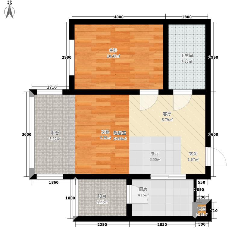 远大中央公园使用面积4483+户型2室1厅