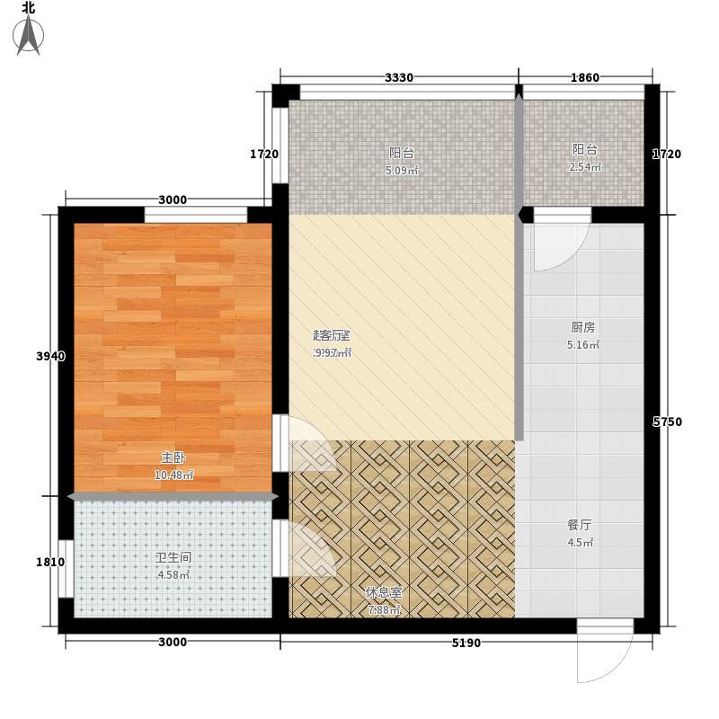 远大中央公园1#楼使用面积4148+户型1室1厅