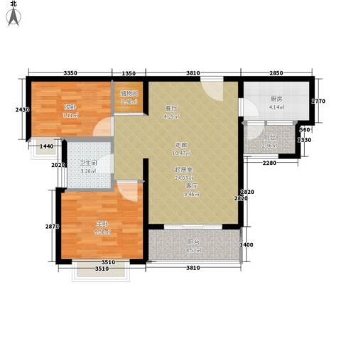 竹园公寓2室0厅1卫1厨76.00㎡户型图