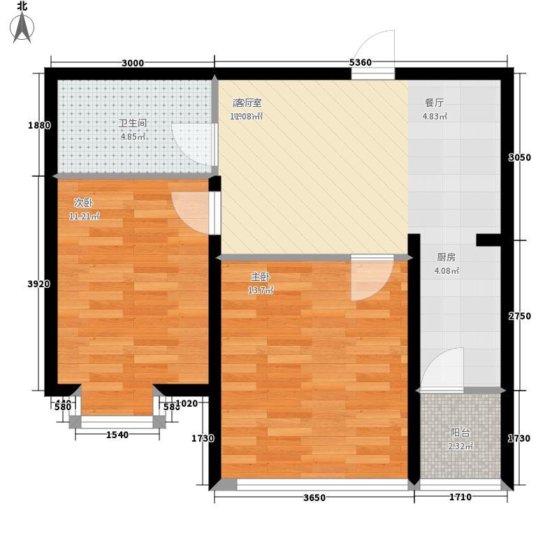 远大中央公园5#6#7#楼户型2室1厅