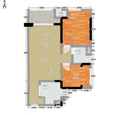 旺府家园2室0厅1卫1厨75.00㎡户型图