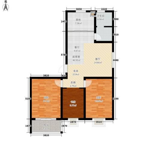 经典雅居2室0厅1卫1厨132.00㎡户型图