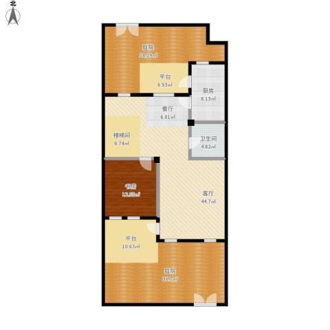 首府136栋1室1厅1卫1厨185.00㎡户型图