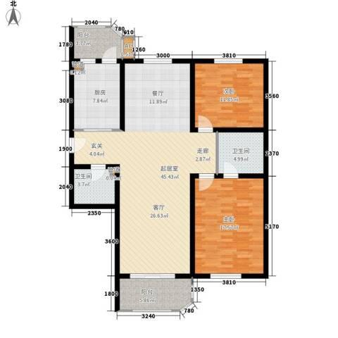 北京太阳城2室0厅2卫1厨115.00㎡户型图