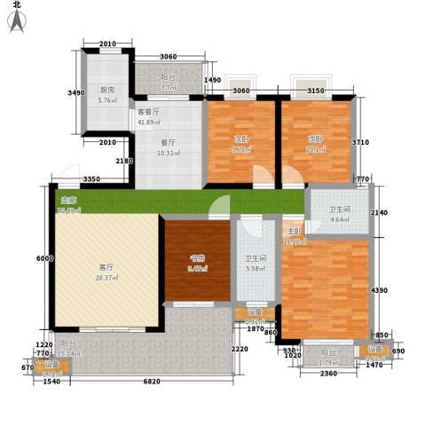 西子湖畔4室1厅2卫1厨146.00㎡户型图