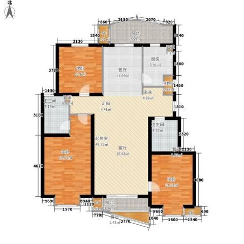 北京太阳城3室0厅2卫1厨141.00㎡户型图