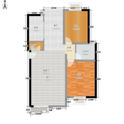 碧云山庄2室1厅1卫1厨94.00㎡户型图