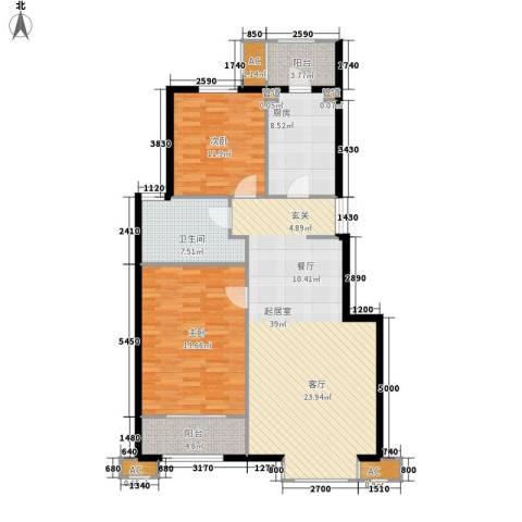 北京太阳城2室0厅1卫1厨106.00㎡户型图