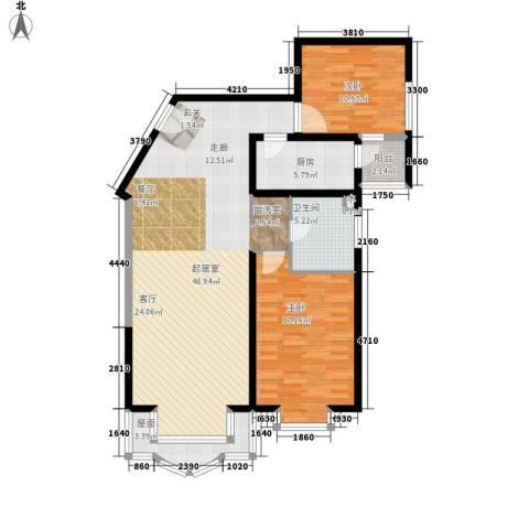 成贤公寓2室0厅1卫1厨104.00㎡户型图