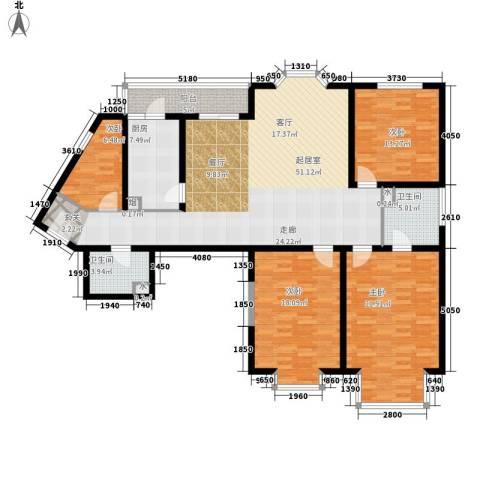 成贤公寓4室0厅2卫1厨150.00㎡户型图