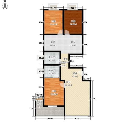 和润苑3室0厅2卫0厨137.00㎡户型图