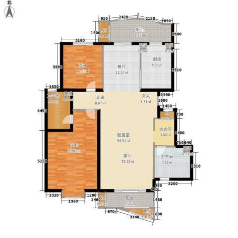 北京太阳城2室0厅2卫1厨138.43㎡户型图