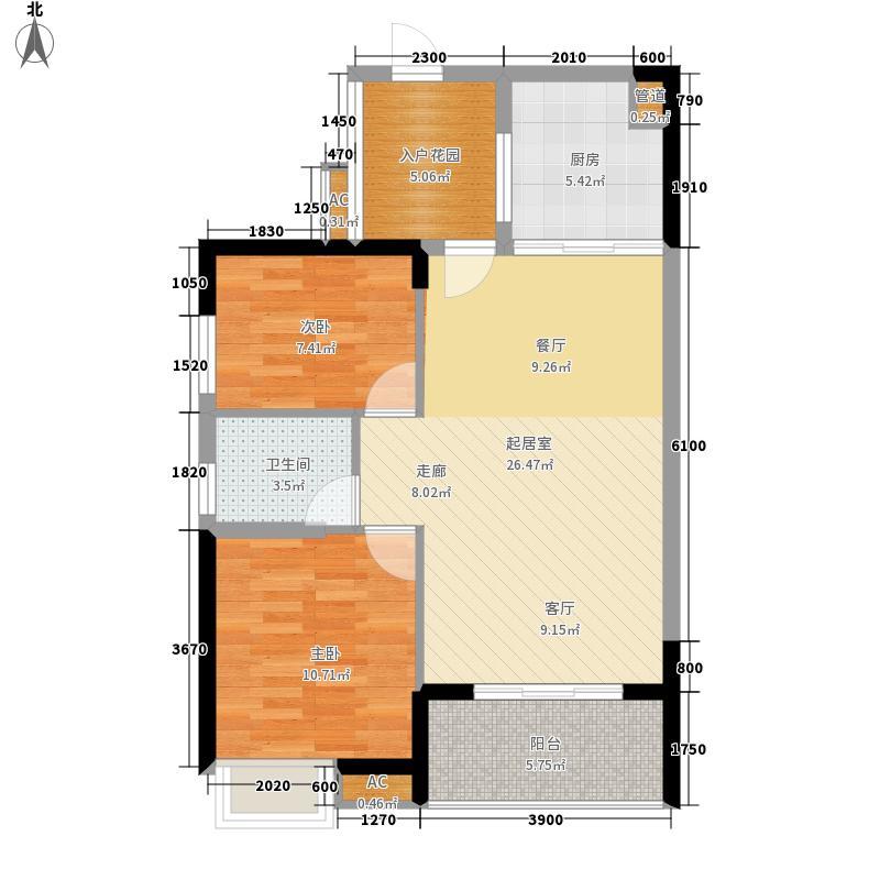 融科香山国际88.50㎡46#B4面积8850m户型