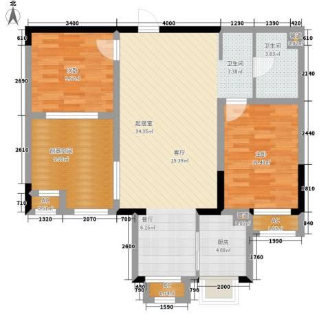 金科帕提欧Ⅱ美遇2室0厅1卫1厨84.00㎡户型图