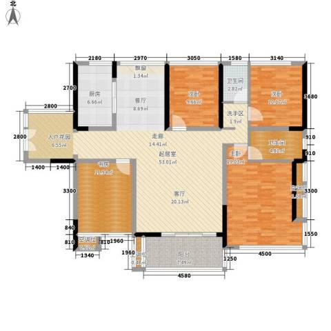金地湖山大境4室0厅2卫1厨153.00㎡户型图