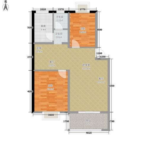 中星苑2室0厅1卫1厨86.00㎡户型图