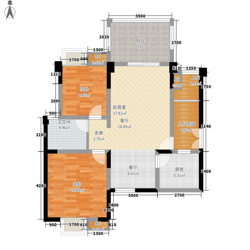 宝泰家园88.81㎡二期A1(6栋面积8881m户型