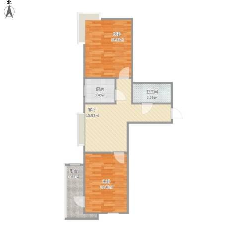 融基・御水山庄2室1厅1卫1厨73.00㎡户型图