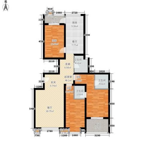 和润苑3室0厅3卫0厨150.00㎡户型图