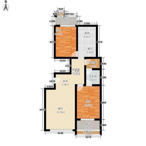 和润苑2室0厅1卫0厨113.00㎡户型图