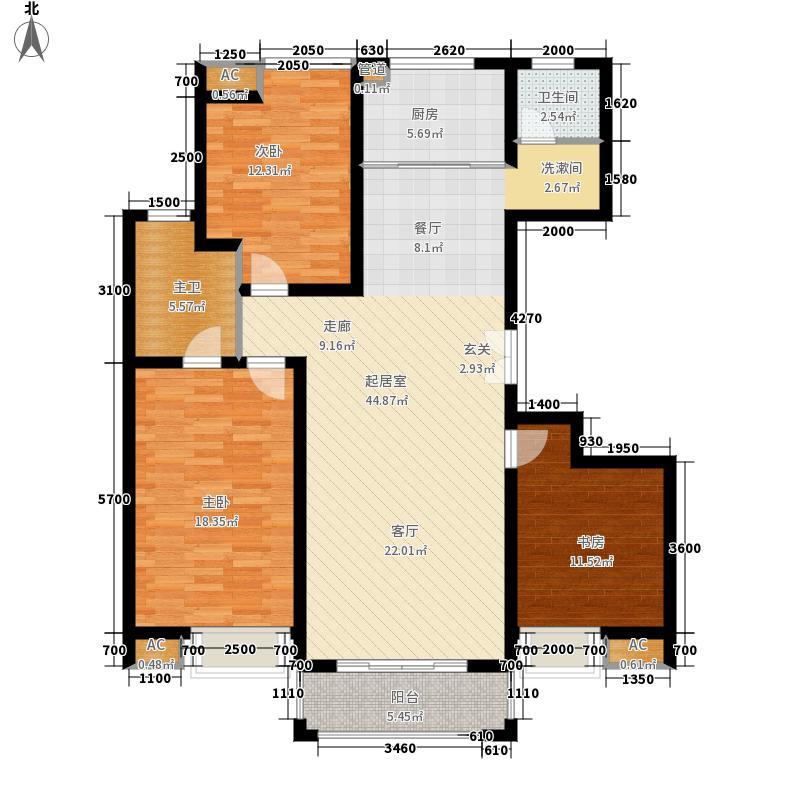 江佑铂庭139.00㎡面积13900m户型