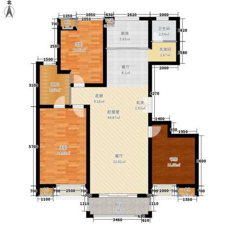 江佑铂庭3室0厅1卫1厨139.00㎡户型图