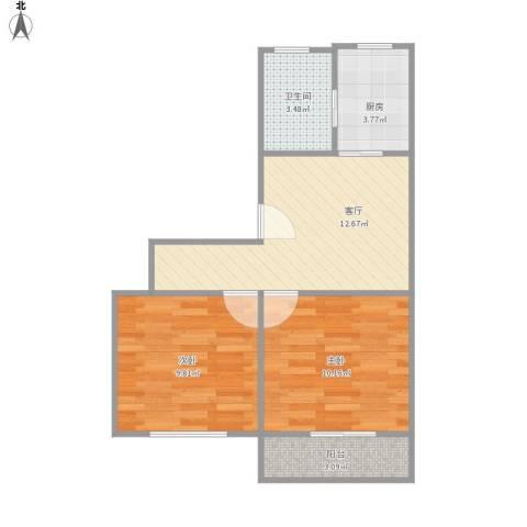 淞南七村2室1厅1卫1厨59.00㎡户型图