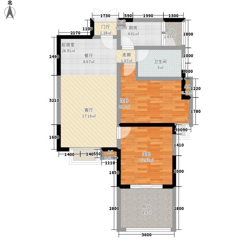 宝泰家园88.11㎡二期A8(6栋面积8811m户型
