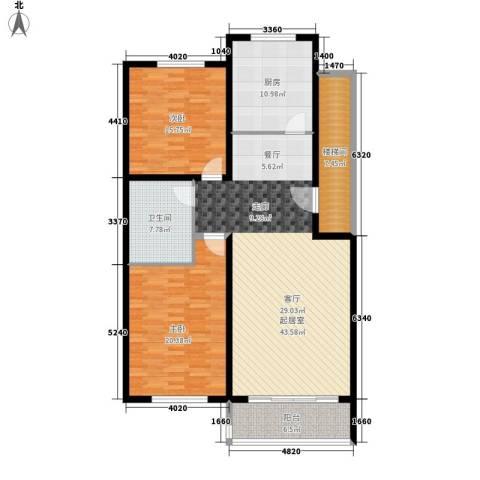 盈家春天2室0厅1卫1厨126.00㎡户型图