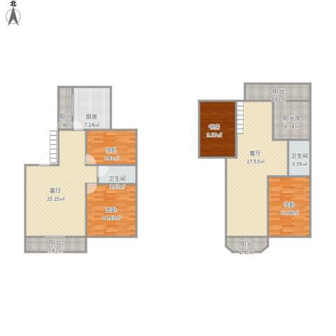天山西路199弄小区4室2厅2卫1厨172.00㎡户型图