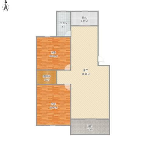 共富鑫鑫花园2室1厅1卫1厨176.00㎡户型图