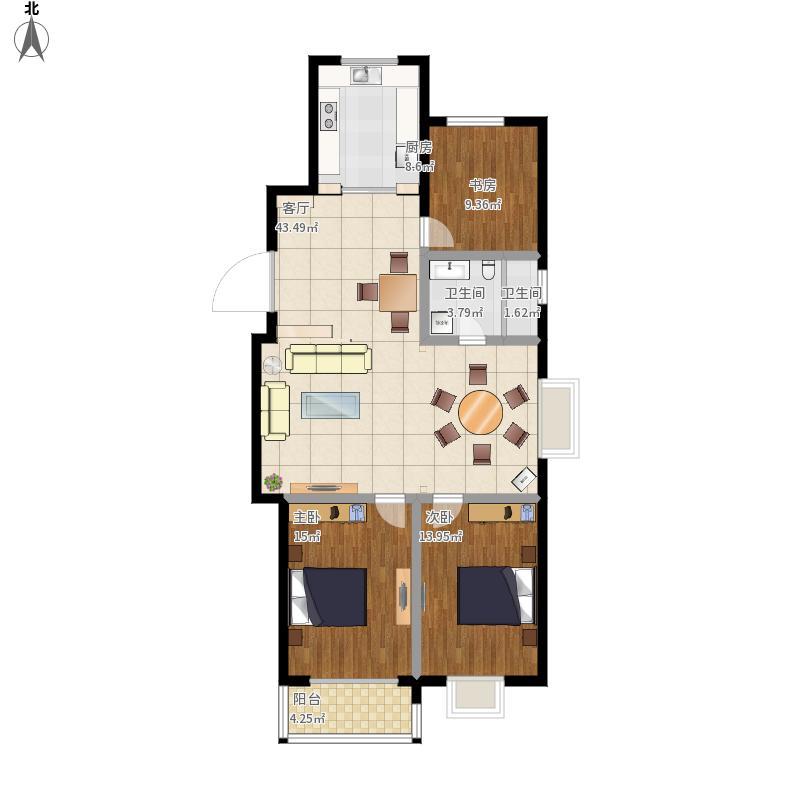 香河人家57#901室三室两厅