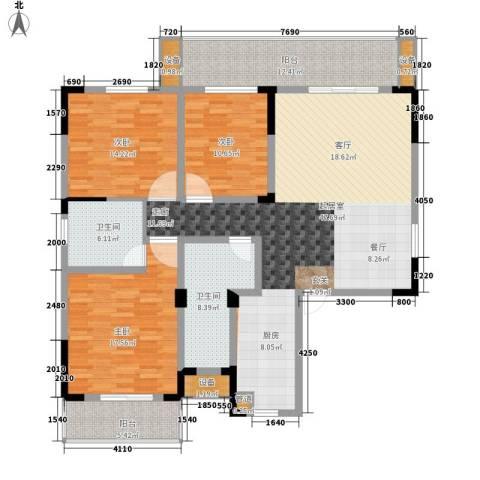 枫雅名苑3室0厅2卫0厨141.00㎡户型图