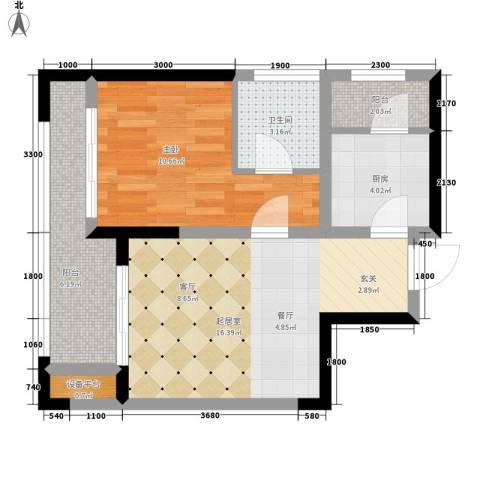 泰悦湾1室0厅1卫1厨60.00㎡户型图
