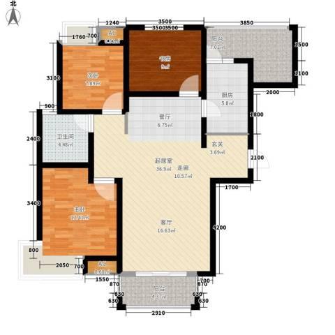 江佑铂庭3室0厅1卫1厨114.00㎡户型图