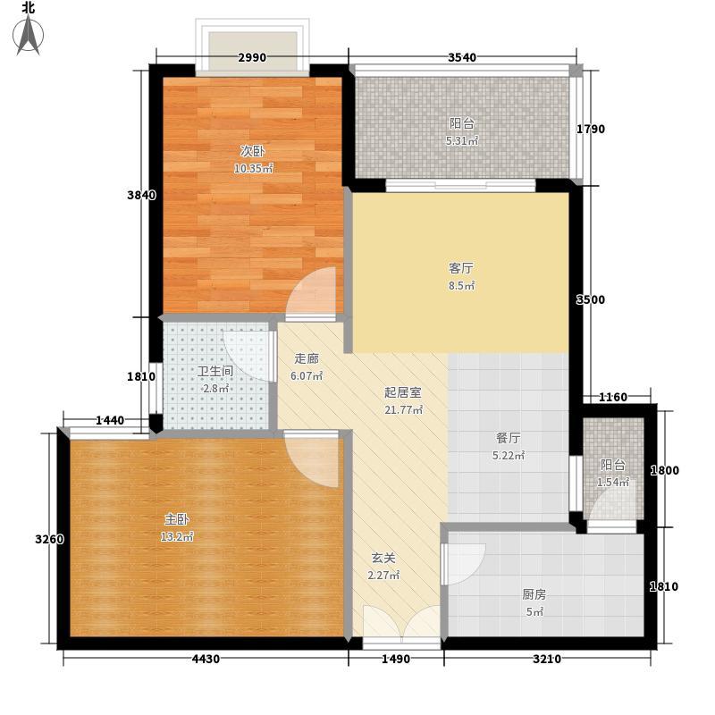 百灵顿华侨星城86.05㎡公寓G3-A户型