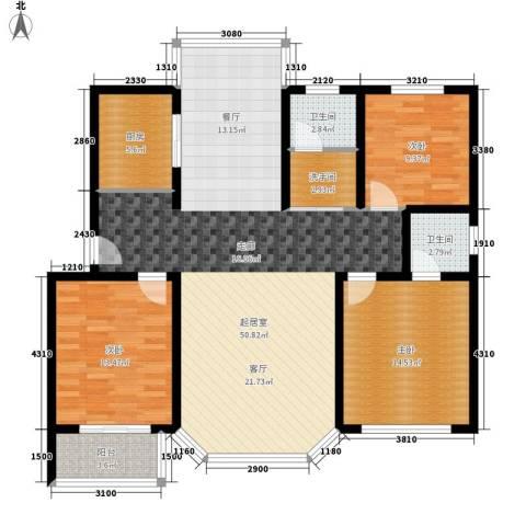 时代雅居3室0厅2卫1厨120.00㎡户型图