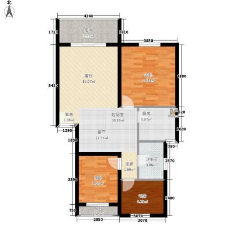 颐家春天3室0厅1卫1厨87.00㎡户型图
