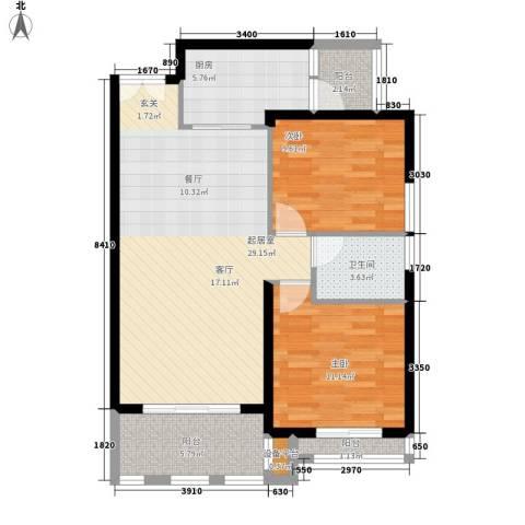 七里小区2室0厅1卫1厨99.00㎡户型图