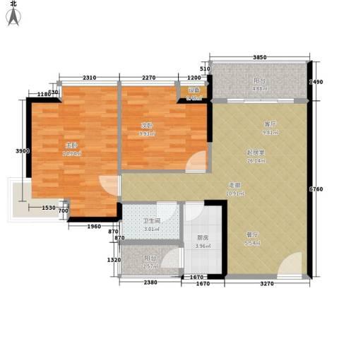 朝阳欣园2室0厅1卫1厨92.00㎡户型图