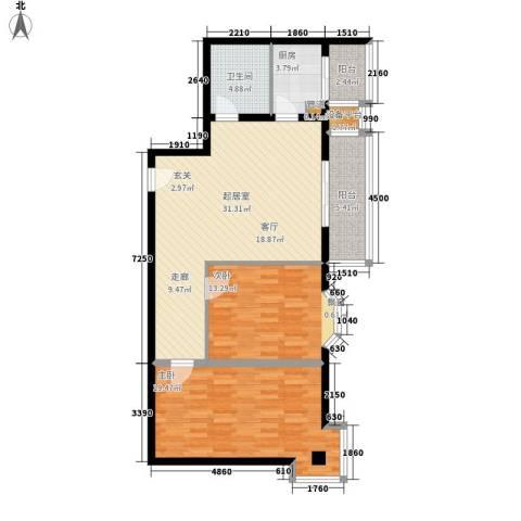 朝阳星苑2室0厅1卫1厨93.00㎡户型图