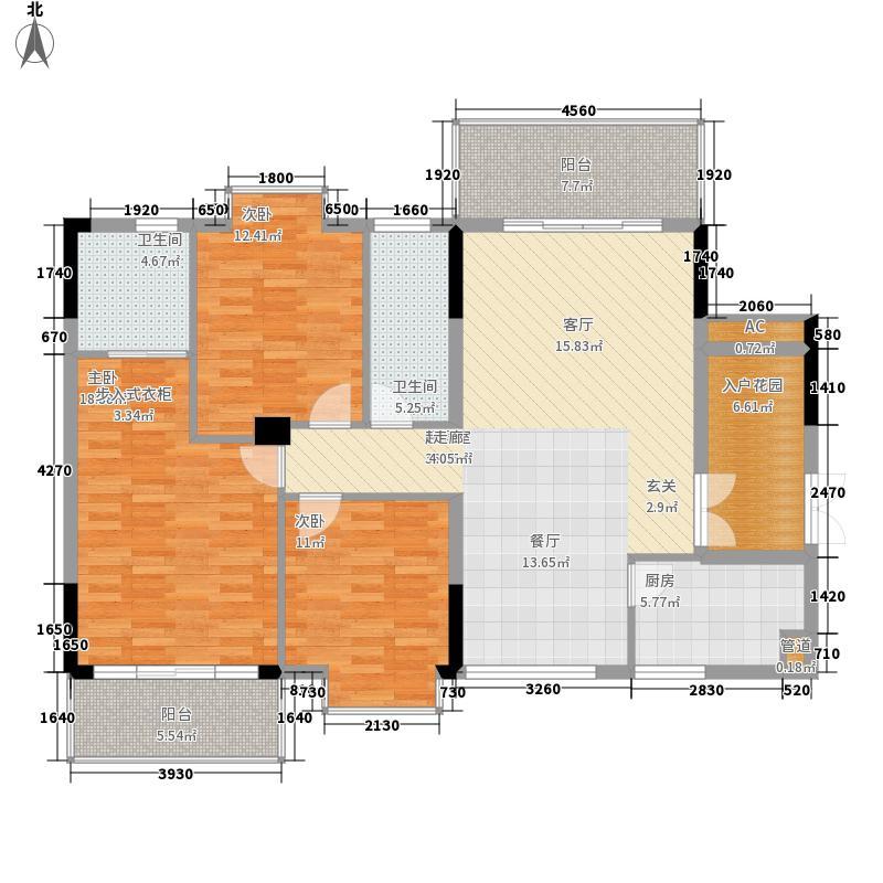 宜居莱茵城128.90㎡A15栋B1面积12890m户型