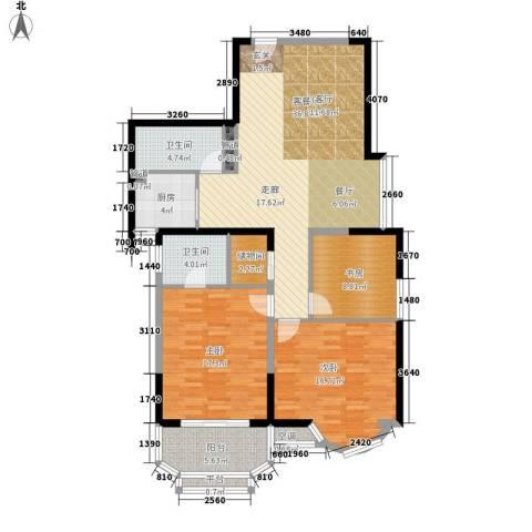 雯锦雅苑3室1厅2卫1厨116.00㎡户型图