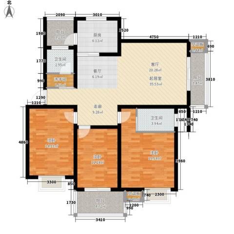 百家湖花园伦敦城3室0厅2卫1厨103.40㎡户型图