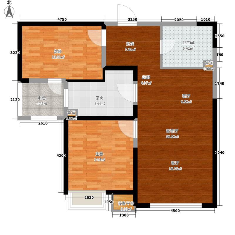 华润置地广场99.05㎡HB户型2室2厅