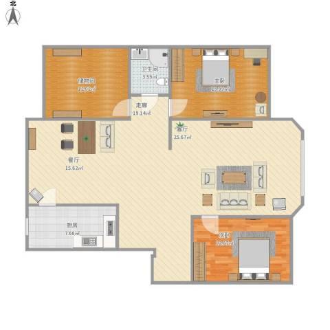 东油馨村2室1厅1卫1厨146.00㎡户型图