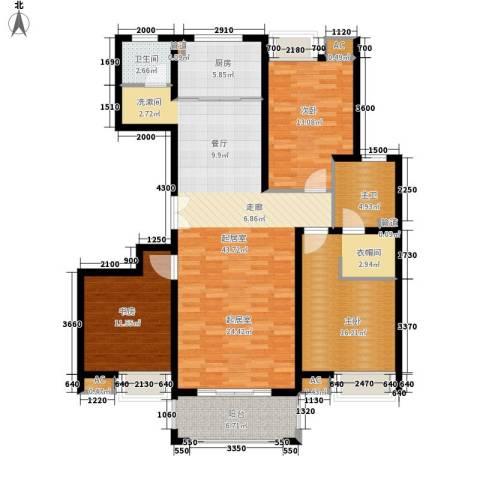 江佑铂庭3室0厅1卫1厨142.00㎡户型图